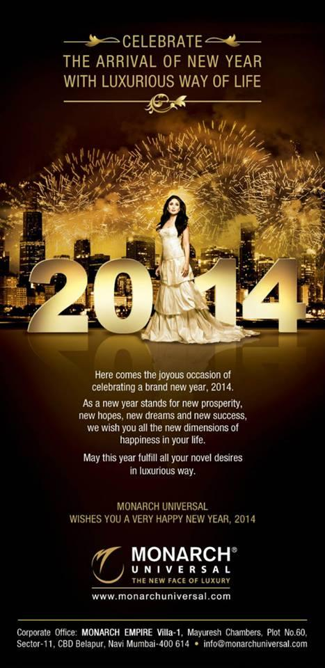 Kareena Kapoor Khan Wishes New Year Nice Pose Photo Shoot For Monarch 2014 Edition