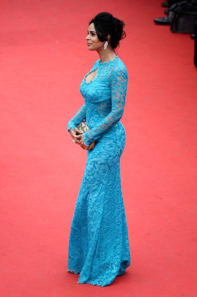 Mallika Sherawat At The Red Carpet Of The 67th Cannes Film Festival