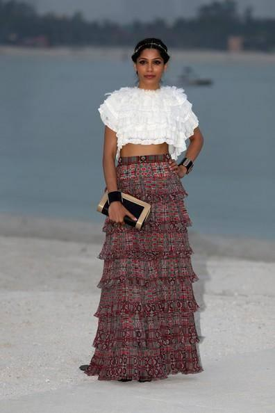 Freida Pinto At Chanel's Cruise 2015 Show In Dubai