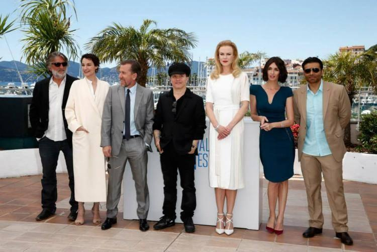 Pierre,Jeanne,Olivier,Kidman,Paz Vega And Uday Posed For Camera During The Screening Of 'Grace Of Monaco' At Festival De Cannes 2014
