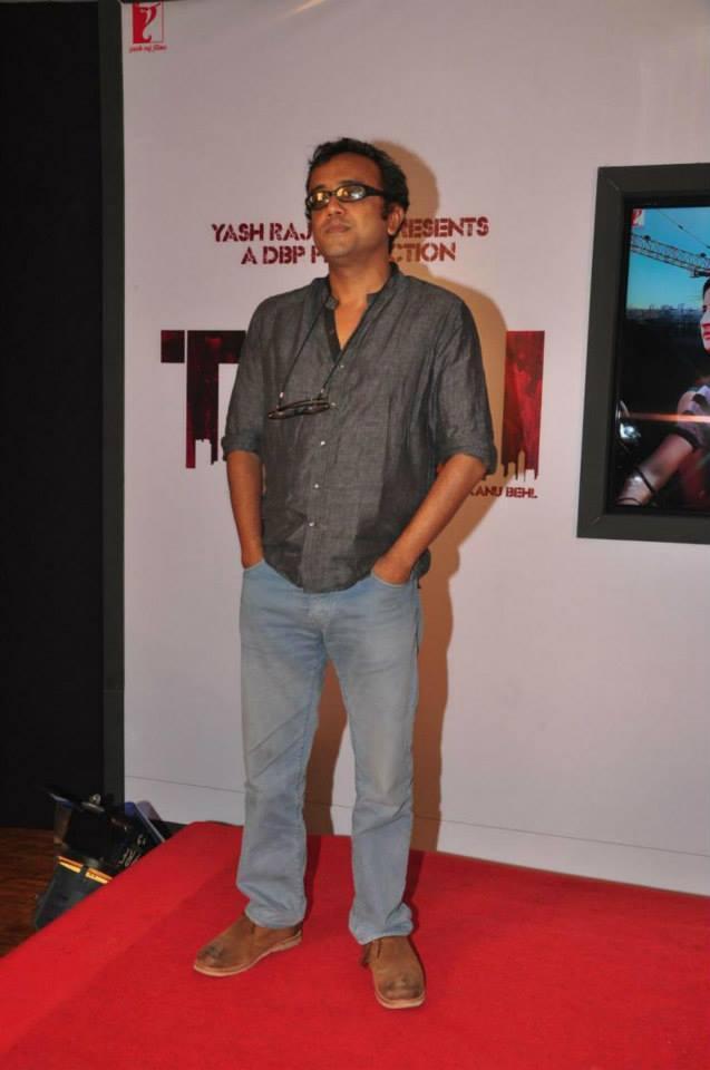 Dibakar Banerjee Posed At Red Carpet During The Trailer Launch Of Titli Movie In Mumbai
