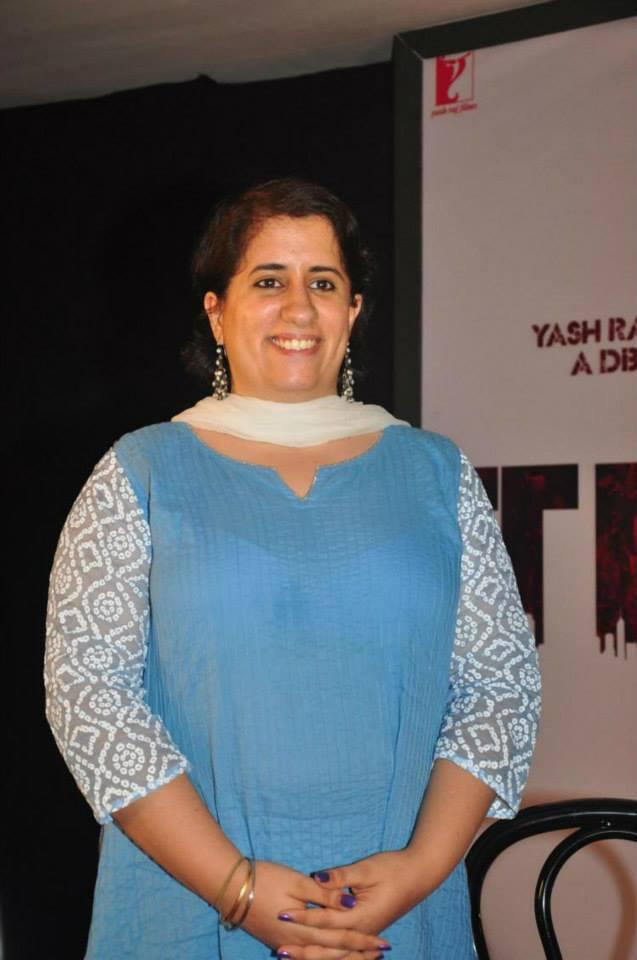 Guneet Monga Smiuling Pose At The Titli Movie Trailer Launch Event