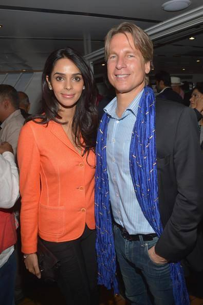 Mallika Attend A Dinner Party At The CII Held During The Ongoing Cannes Film Festival