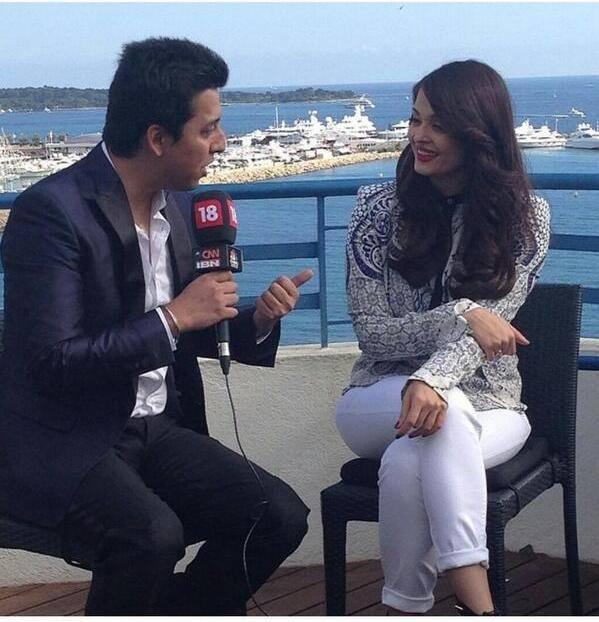 Aishwarya Rai Bachchan Attend An Interview At Cannes 2014