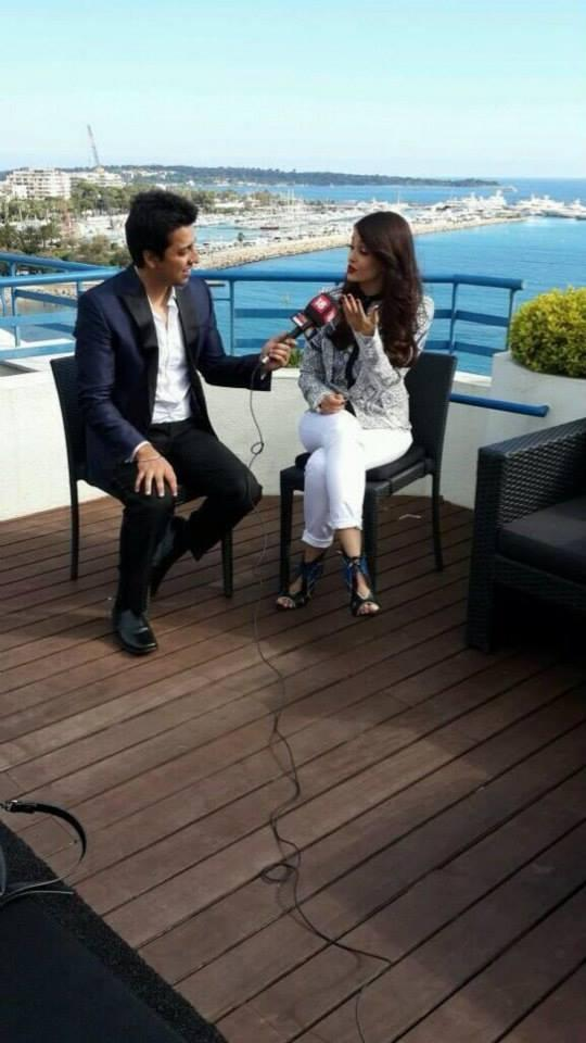 Aishwarya Rai Bachchan During An Interview At Cannes 2014