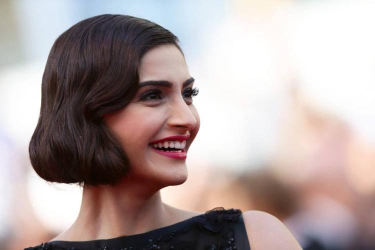 Sonam Kapoor Open Smile Pic At CAnnes 67th Film Festival