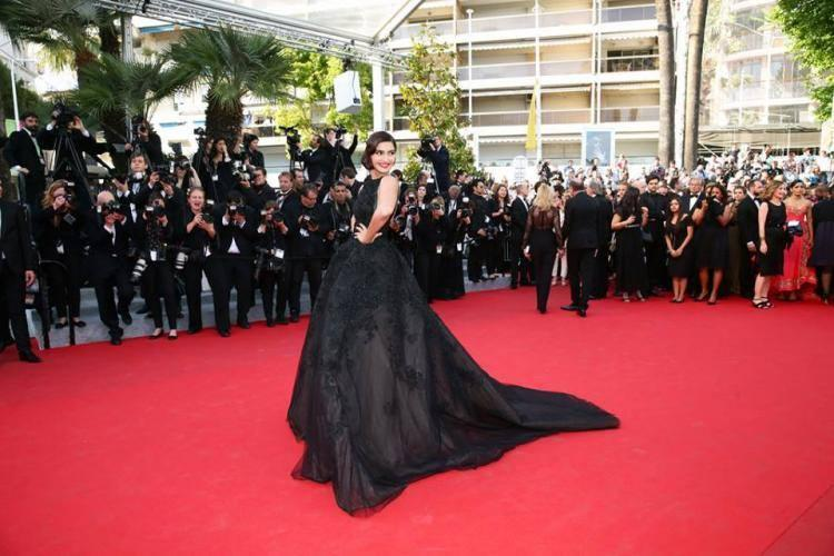 Sonam Walks At The Homesman' Premiere During The 67th Cannes Film Festival