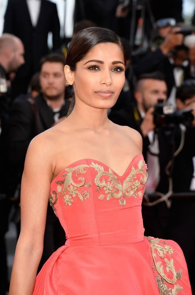 Freida Pinto Close Up Pic On Red Carpet At 67th Cannes Film Festival 2014