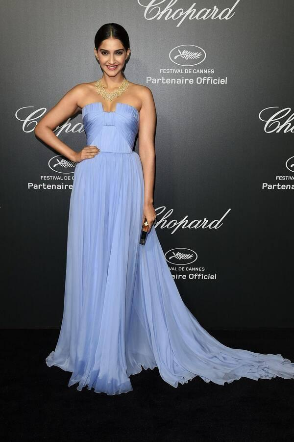 Fashionista Sonam Kapoor Attends Chopard Party At Cannes 2014 Festival