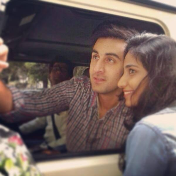 Ranbir Kapoor Nice Pose Photo Shoot With His Fan