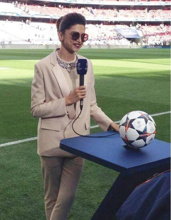 Deepika Padukone During The UEFA Champions League Final Match