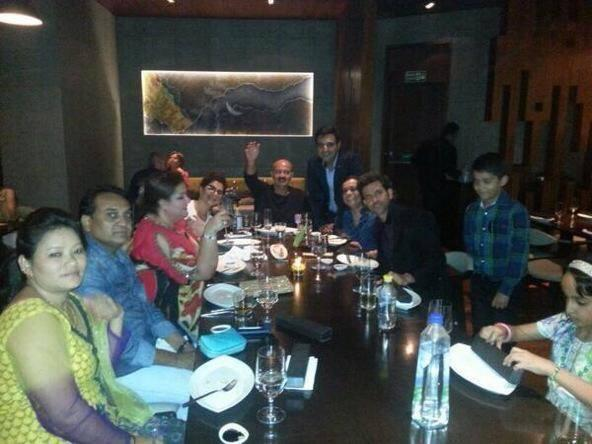 Sunaina's To Dad With Love Book Launch Event Roshan Family On Dining Table Memorable Still