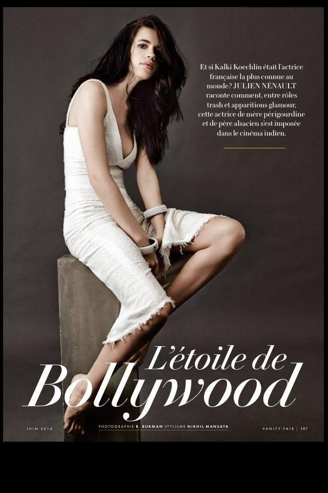 Kalki Hot Sizzling Still On The Cover Of French Edition Of Vanity Fair Magazine