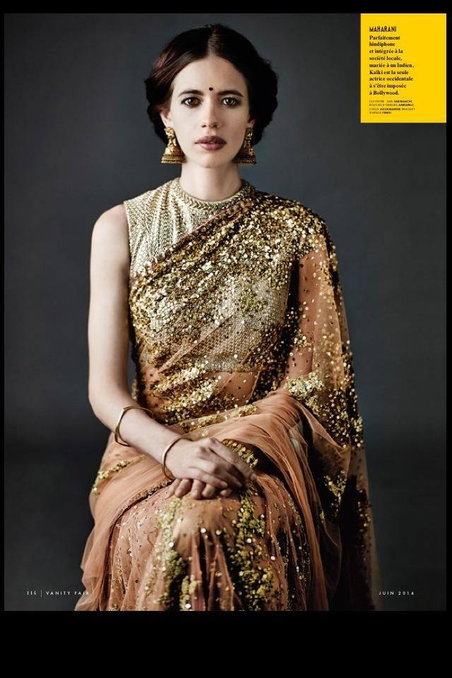 Kalki Koechlin Strikes A Maharani Pose On The Cover Of Vanity Fair June 2014