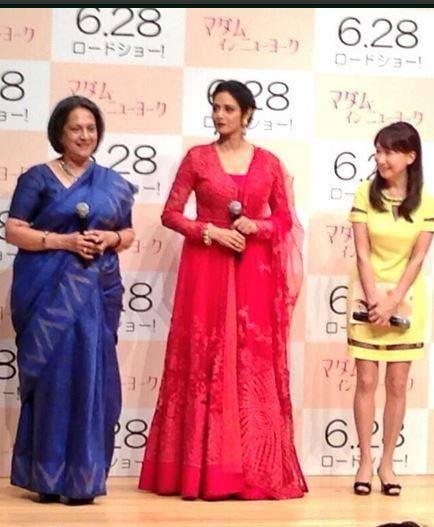 Sridevi Kapoor During The English Vinglish Premiere In Tokyo