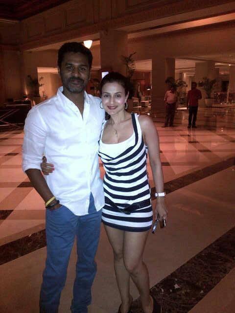 Ameesha Patel And Prabhu Deva Click Nice Picture During Ameesha Patel Birthday