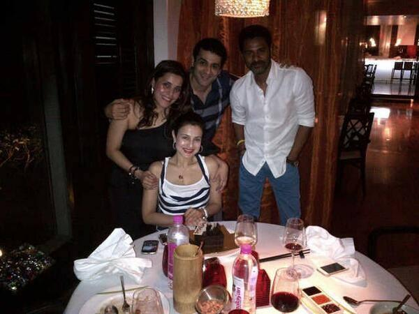 Ameesha With Smiling Face Celebrate Her 38 Birthday With Prabhu Deva