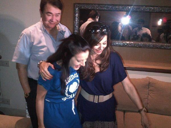 Lilette And Randhir Surprised Ameesha At Desi Magic Sets For Her Birthday