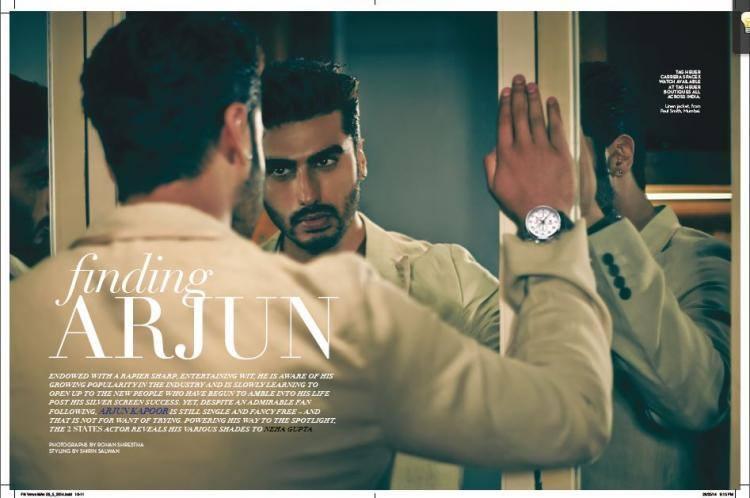 Arjun Kapoor Bestowed The Robust Looks For Verve Magazine 2014 Issue