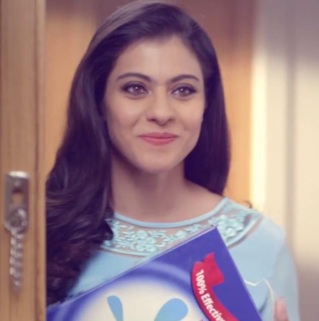 Kajol Devgan Sweet Smile Pose For New Ad Omo Detergent Powder
