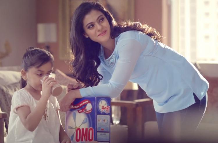 Sizzling Kajol Devgan Omo Detergent Powder Ad Shoot Pic
