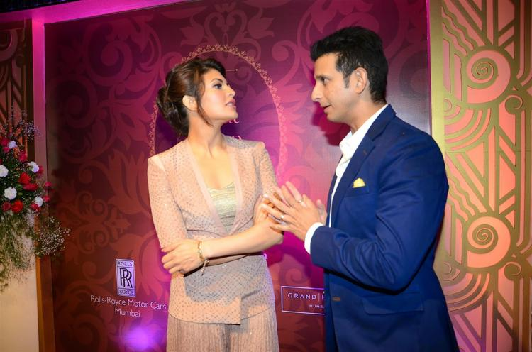 Jacqueline Fernandez And Sharman Joshi Chatting During The Launch Of The Great Indian Wedding Book