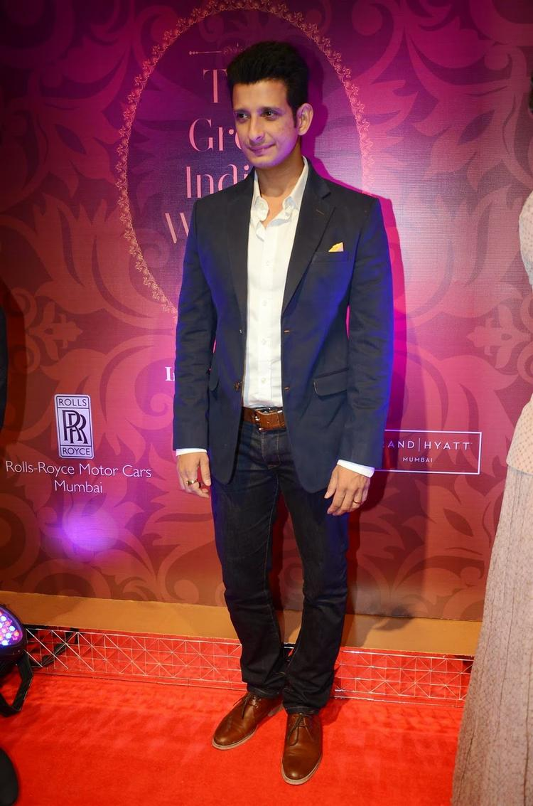 Sharman Joshi Clciked In Red Carpet During The Launch Of The Great Indian Wedding Book