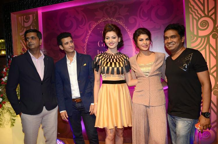 Sharman,Urvashi,Jacqueline And Mushtaq Clicked During The Launch Of The Great Indian Wedding Book