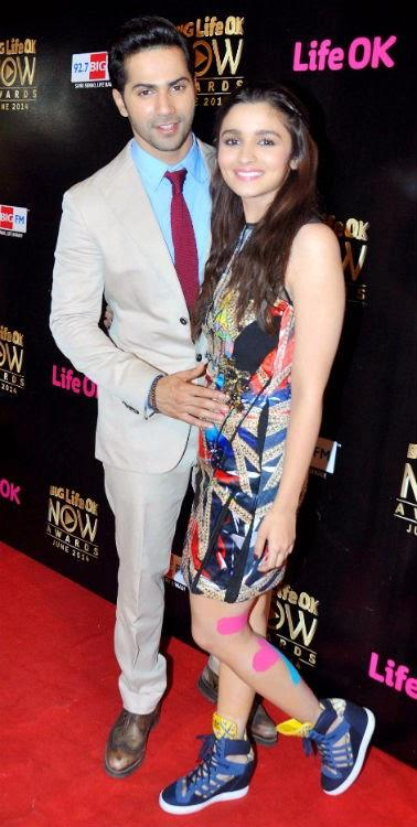 Alia Bhatt And Varun Dhawan Sizzled Together At The Big Life OK Now Awards 2014