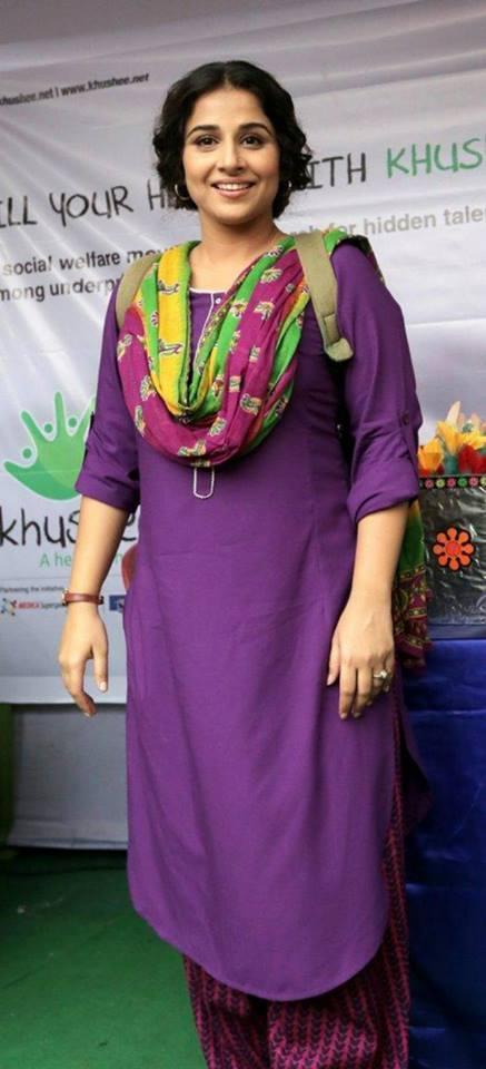 Vidya Balan Dazzling Simple Look At Bobby Jassos Film Promotion In Kolkata