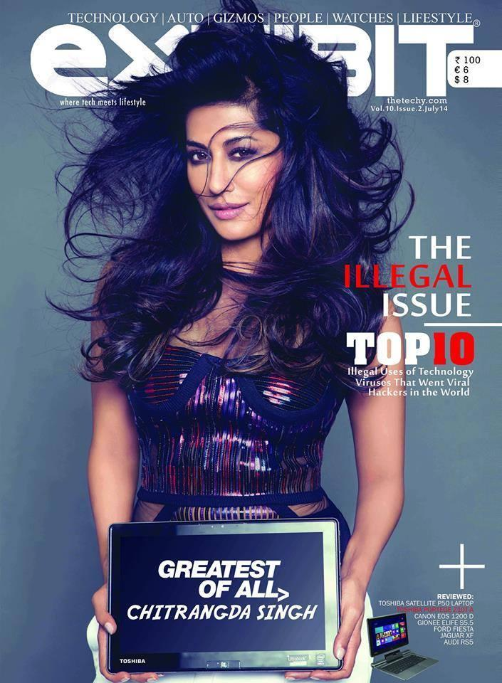 Chitrangada Singh Graces The Cover Of Exhibit Magazine For The Month Of July 2014