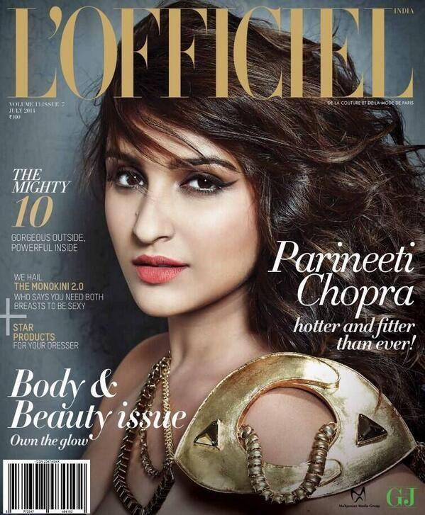 Parineeti Chopra L'officiel Magazine Cover July 2014 Issue
