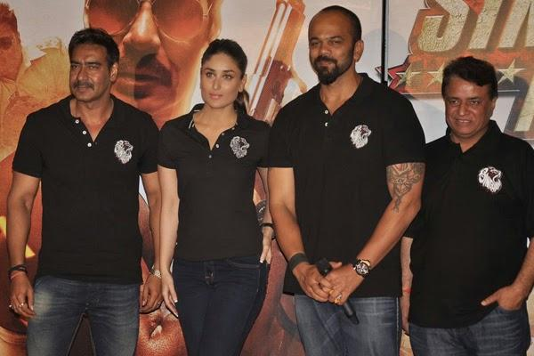 Ajay,Kareena And Rohit Launched The Trailer Of Singham Returns Movie
