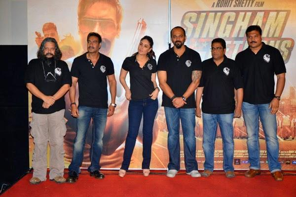Amole,Ajay,Kareena,Rohit And Daya Clicked In Red Carpet At The Trailer Launch Of Singham Returns