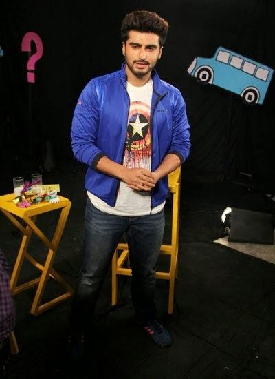 Arjun Kapoor Nice Look On The Set Of Disney's Chat Show Captain Tiao
