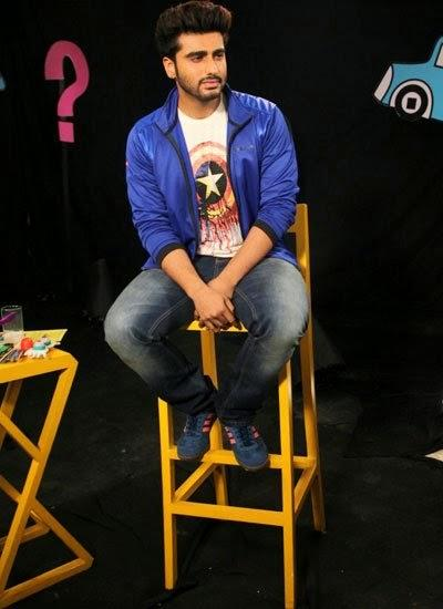 Arjun Kapoor Promote His Upcoming Flick Finding Fanny On The Set Of Disney's Chat Show Captain Tiao