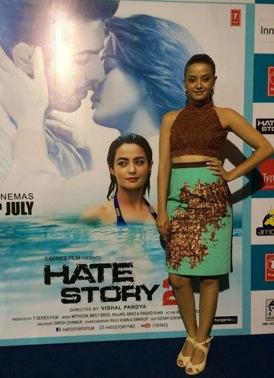 Hottie Surveen Chawla Promote Their Upcoming Flick Hate Story 2 In Bangalore