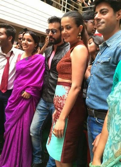 Jay,Surveen And Sushant At Bangalore For Promoting Hate Story 2 Movie