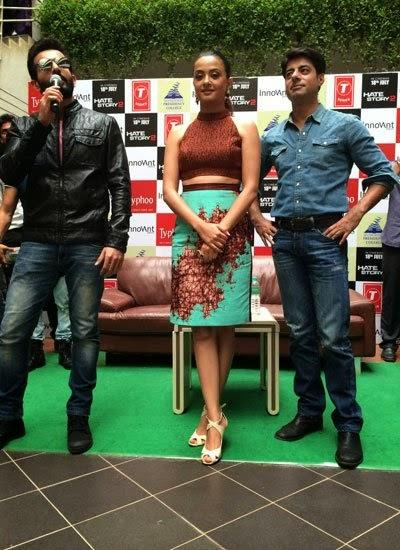 Jay,Surveen And Sushant Promote Their Hate Story 2 Movie At Bangalore