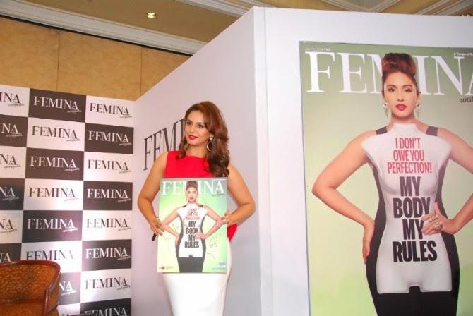 Huma Qureshi Launched The New Femina Magazine 2014 Issue