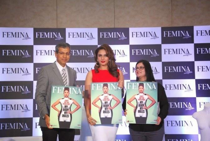 Huma Qureshi Unveils The New Femina 2014 Issue My Body My Rules
