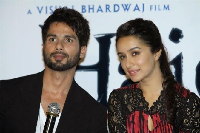 Shahid Kapoor And Shraddha Kapoor Address The Media At The Launch Of Haider Movie