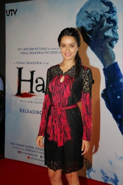 Shraddha Kapoor Cool Stunning Look At The Launch Of Haider Movie