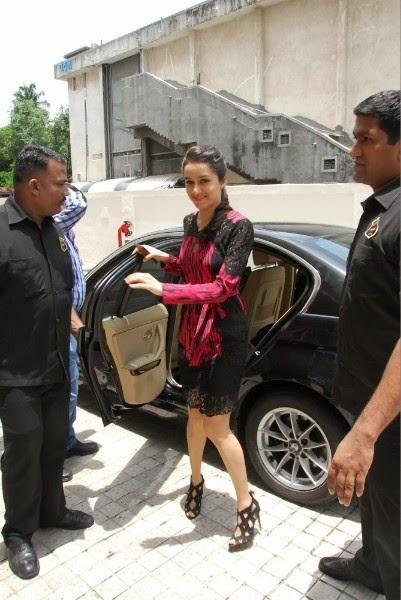Shraddha Kapoor Goes To Attend The Launch Of Haider Movie