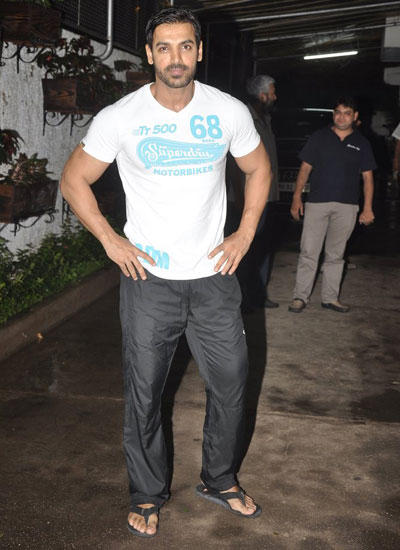 John Abraham Cool Handsome Look During The Screening Of Lai Bhaari Movie