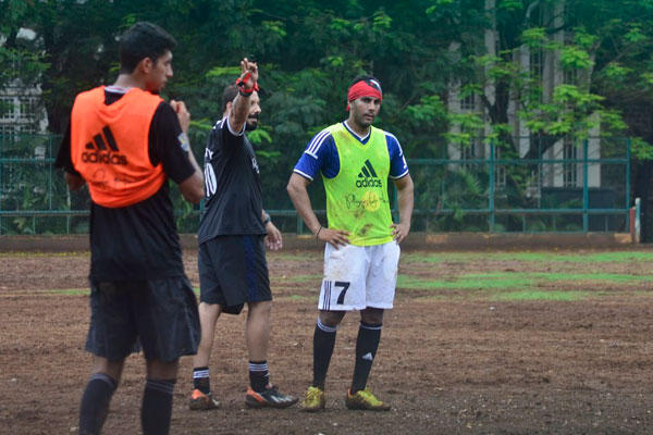 Bollywood Celebs Play Soccer Game In Rain With Full Mood