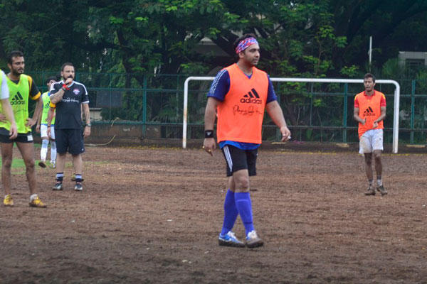 Raj Kundra Plays Soccer Game In Rain