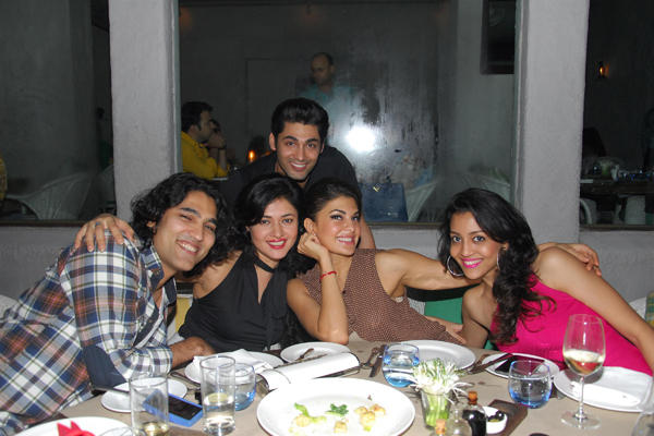 Jacqueline,Sonal,Ruslaan And Friends Posed Near Dinner Table At Sonal Sehgal Birthday Bash