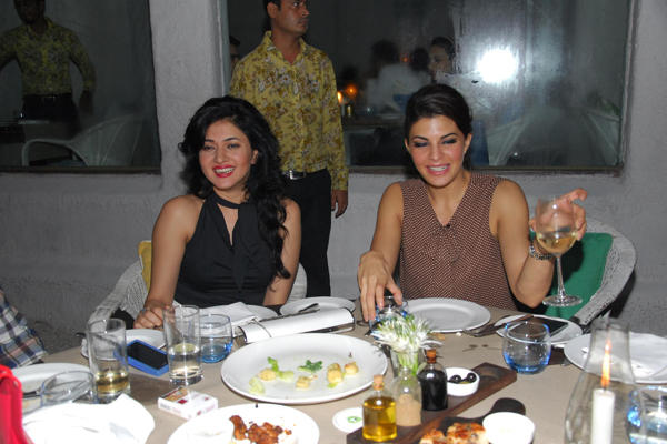 Sonal Sehgal and Jacqueline Fernandez Cool Smiling Posed Clicked At Sonal Sehgal Birthday Party