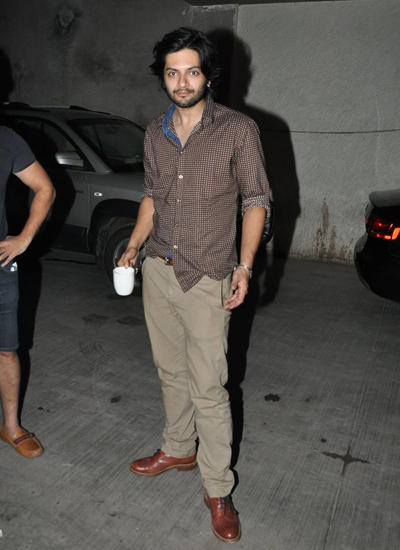 Ali Fazal Posed With Cup At Vir Das Film Amit Sahni Ki List Screening Event